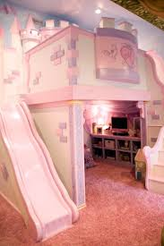 childrens beds with slides. Girl\u0027s Room With Custom Princess Castle Bed This Playful Pink Bedroom Is Any Little Princess\u0027s Dream. The Features A Cozy Loft Nestled Childrens Beds Slides