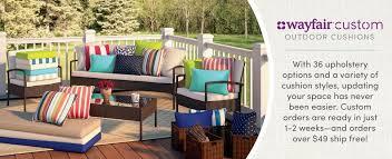 custom sunbrella cushions. Beautiful Cushions Wayfair Custom Outdoor Cushions In Sunbrella U