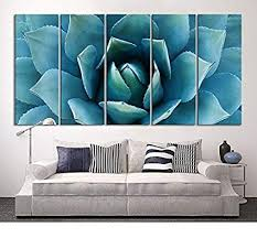 extra large teal wall art