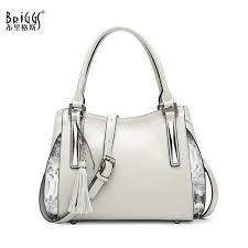 briggs genuine leather casual tote fashion women handbag soft leather shoulder bag famous brand designer handbag cross bags