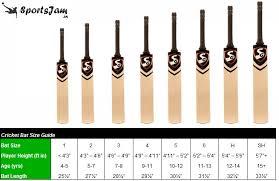 bat size chart sportsjam cricket bat buying guide