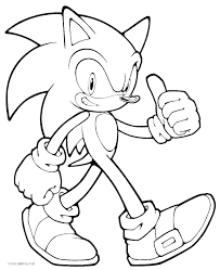 Sonic X Coloring Sheets Sonic Coloring Pages Printable Sonic