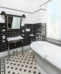 black and white bathroom ideas photos. view in gallery smart combination of black and white the bath bathroom ideas photos
