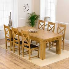 lau oak 230cm xl dining table canterbury chairs set