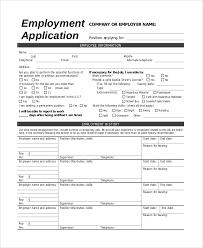 Job Applications Sample Jobs Application Sample Template Business