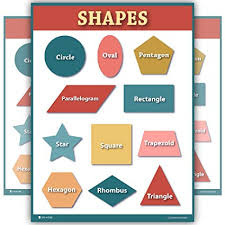 Chart Paper For Kindergarten Amazon Com Learn Shapes Chart Extra Large Size Classroom