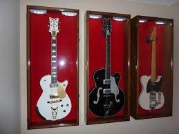 guitar display case gretsch guitar display case cabinet rack holder led decor inspiration