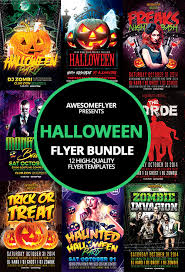 halloween template flyer halloween flyer template bundle for photoshop awesomeflyer com