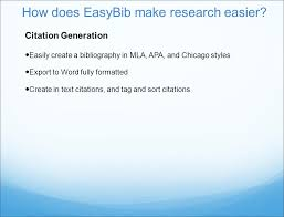 Instructional Guide How Does Easybib Make Research Easier Citation