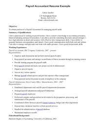 Resume Payroll Administrator Resume