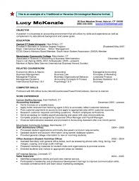 Traditional Resume Format Cool Free Download Sample Traditional Or Reverse Chronological Resume