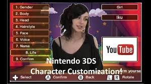 · what are best rpgs with character creation? Iku S Top 5 Favorite 3ds Games W Character Customization Youtube