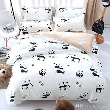 kid beds creative of single bed duvet covers cartoon panda bedding set black white cover and toddler duvet covers
