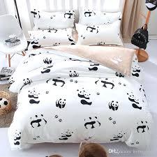 kid beds creative of single bed duvet covers cartoon panda bedding set black white cover and kids boy nursery best bes