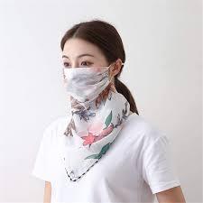 Scarves & Wraps <b>5pcs</b> Chiffon <b>Face Shield Mask</b> Earloop Respirator ...