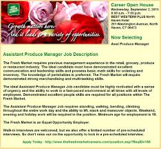 Enchanting Produce Manager Resume Adornment Documentation Template