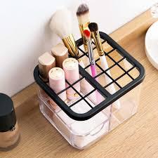 transpa 25 grid lipstick holder display makeup organizer makeup brush holder rouge cosmetic storage box with