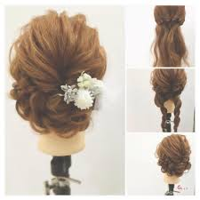 これ自分でやったのドレス別結婚式お呼ばれヘアアレンジ
