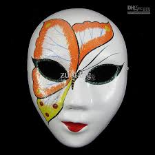 Decorating A Mask White Butterfly Masquerade Masks Adults Women Paper Pulp Full Face 36