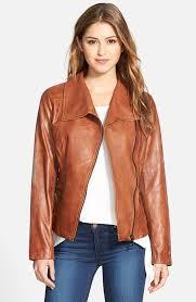 leather moto jacket bernardo