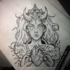 Tattoo Tatuaje Girltattoo Demontattoo Hearttattoo Sketch