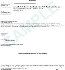 Contract Forms For Construction General Contractor Sample Contract General Contractor Contract
