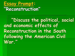 civil war reconstruction chapter review ppt video online  civil war reconstruction chapter 16 review 2 essay