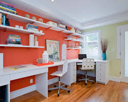 wall color for office. home office feng shui orange wall color for