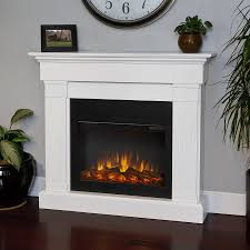 Real Flame 47.4-in W 4780-BTU White Wood LED Electric Fireplace with  Thermostat
