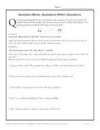 Punctuation Marks Worksheets Amazing Punctuating Titles Worksheet