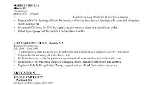 Sample Housekeeping Resume Best Of Hospital Housekeeping Resume