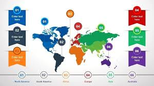 Animated Continental Template Keynote World Map Free Outline