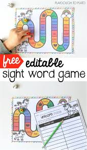 Free Editable Sight Word Game Awesome