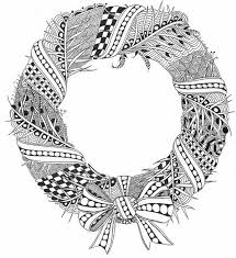plain christmas wreath coloring page. Beautiful Christmas Christmas Coloring Page Printable  Wreath Throughout Plain Wreath E