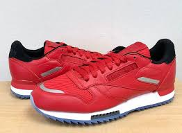 details about mens reebok classic cl leather ripple low bp bs5250 primal red white black