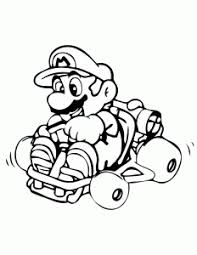 Mario Kart Free Printable Coloring Pages For Kids