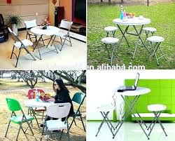 small folding table side tables plastic round dinning with adjule legs small round folding table plastic