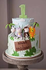 My Animal Safari Cake Kids First Birthday Surprise Cake