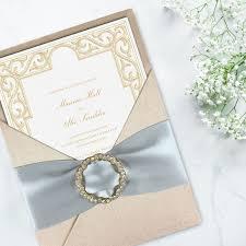 Invitation Card Design Handmade Champagne Couture Silk Invitation Creation Promising The