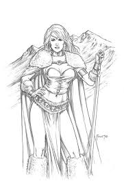 warriors coloring pages awesome 88 best mitch foust images on drawings fantasy art