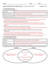 Puritans And Quakers Venn Diagram Unit 1 Study Guide Answers