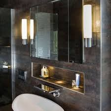 best bathroom mirror lighting. The Kyoto 260 Energy Saving Bathroom Wall Light Has A Polished Chrome Finish And Frosted Glass Best Mirror Lighting R