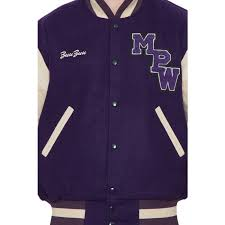 parchment leather sleeves purple wool varsity jacket men leather sleeves varsity jacket men