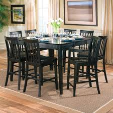 dining room tables chairs square:  black color wood square dining room table seats  with leaf ideas