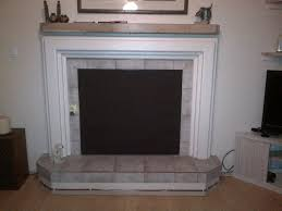 magnetic fireplace covers with concrete mantel for home interior idea