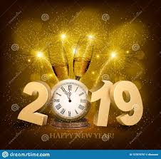 New Year Backgrounds Happy New Year Background With 2019 And Fireworks Vect Stock Vector