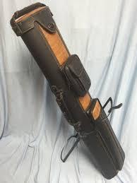 j j pc35x 4 3x5 pool cue case with stand black tan
