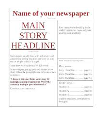 The Times Newspaper Template Retirement Newspaper Template Matizojo Co