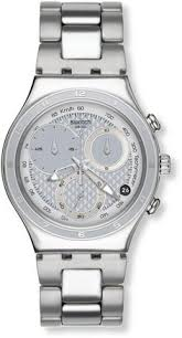 swatch irony pure powder silver dial stainless steel ladies watch swatch oblique end silver mens watch ycs549g swatch watches white watch