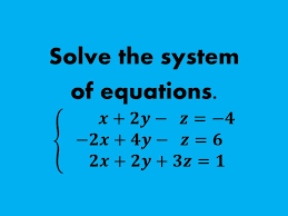 how to solve a system of equations in 3 variables without matrices you